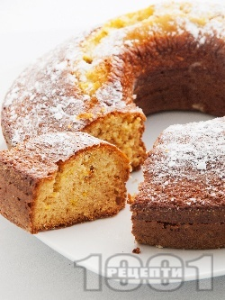 Бърз и лесен домашен кекс / сладкиш с конфитюр от боровинки (с кисело мляко и бакпулвер) - снимка на рецептата